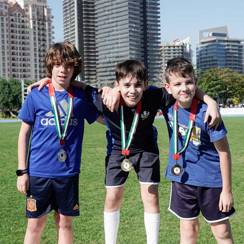 Regent Sports Day winning medals